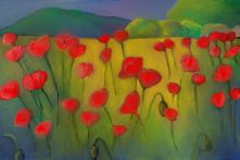 poppies, microsoft fresh paint. poppy field