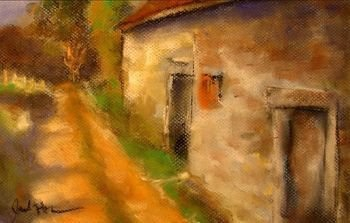 chateau-pastel-on-paper
